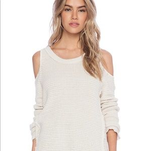 Free People Sunrise Cold Shoulder Pullover - M